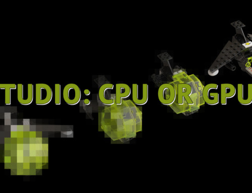 LEGO Studio Render CPU GPU Comparison with GTX 1080, GTX 970, Ryzen 3700x, Ryzen 1700