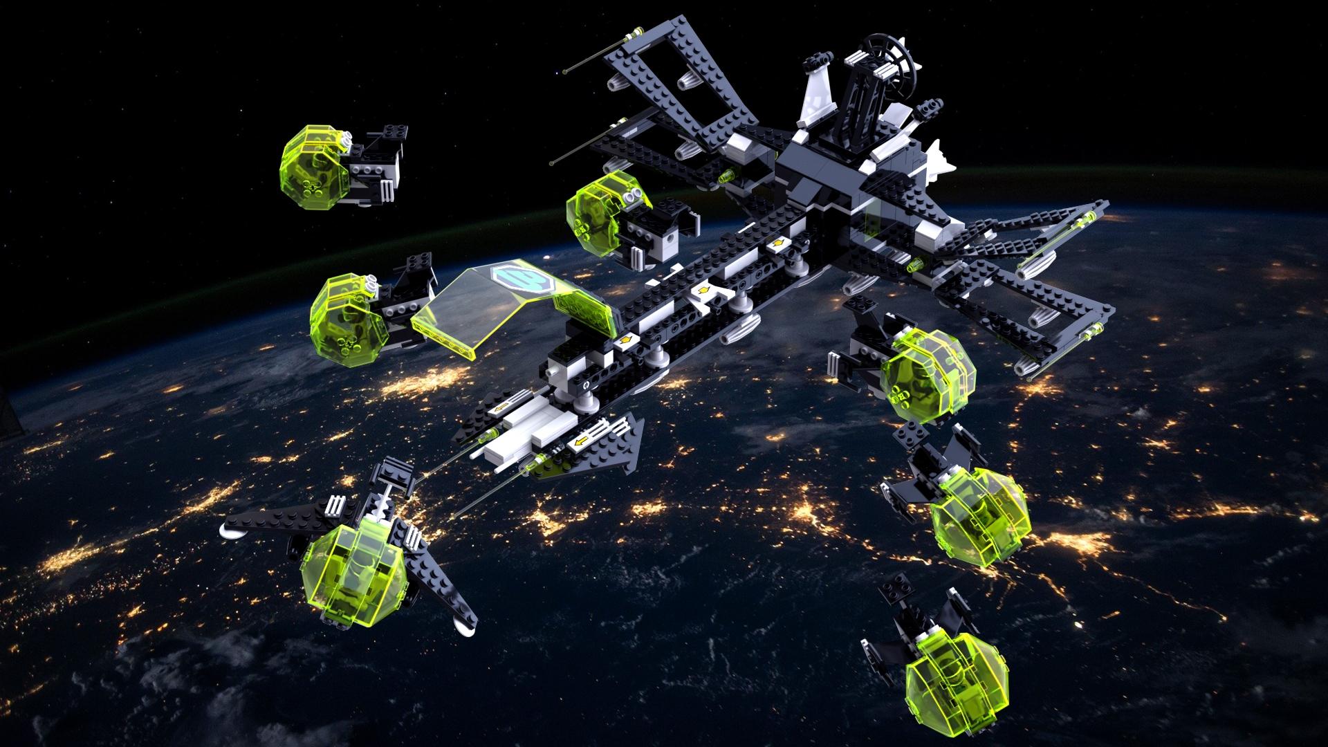 LEGO Blacktron 2 - AFIF - Deploying intruder ships
